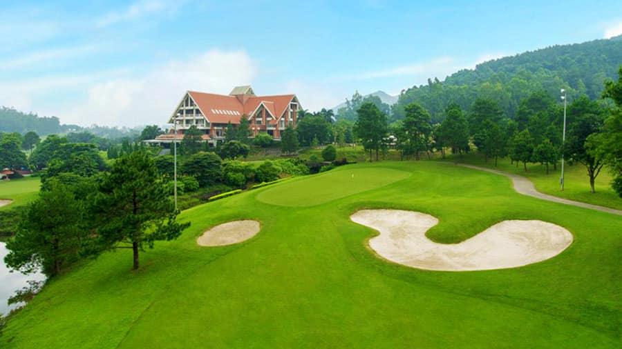 Cảnh quan sân golf Tam Đảo