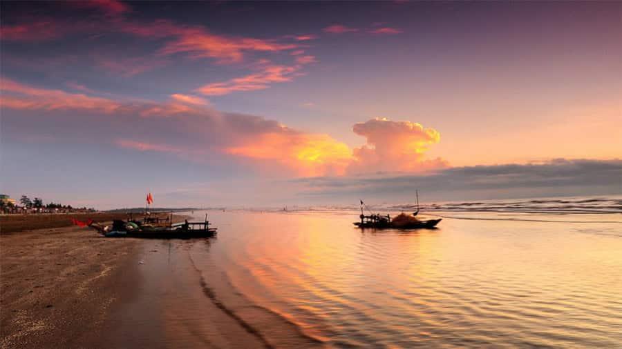 Một góc chợ làng chài biển Hải Tiến