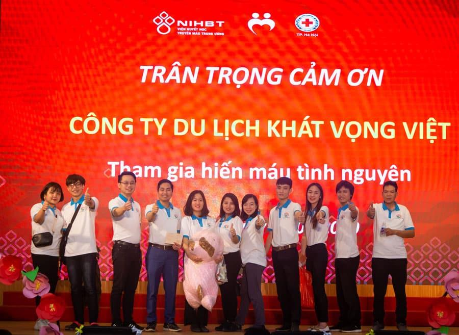 Hiến máu là hoạt động ý nghĩa và nhân đạo chắc chắn sẽ nhận được sự hưởng ứng của toàn bộ lãnh đạo và nhân viên Công ty Du lịch Khát Vọng Việt ở những chương trình hiến máu trong thời gian tới