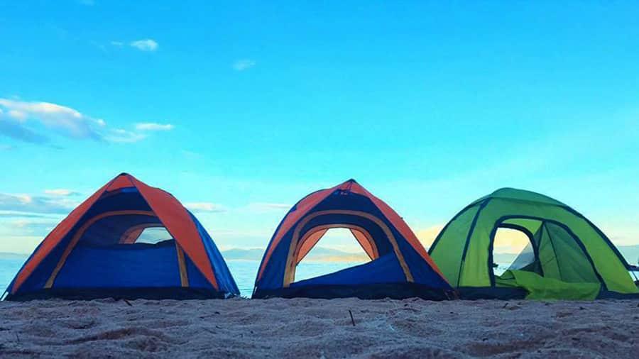 ô Tô Park cung cấp dịch vụ thuê lều, bạt để du khách có thời gian nghỉ ngơi