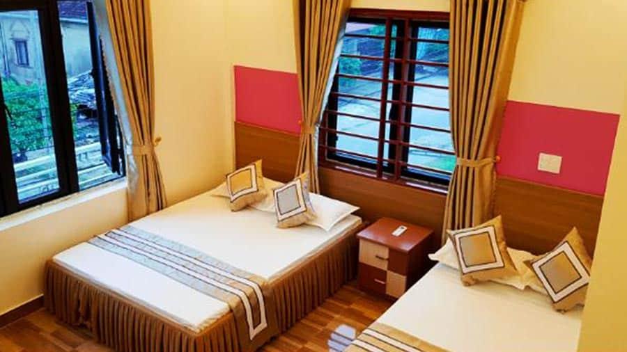 Phòng tại nhà nghỉ Sơn Lương vô cùng ấm cúng