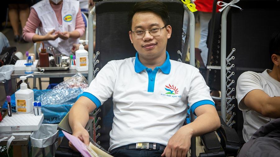 Anh Thanh cảm thấy hiến máu nhân đạo là hoạt động vô cùng ý nghĩa