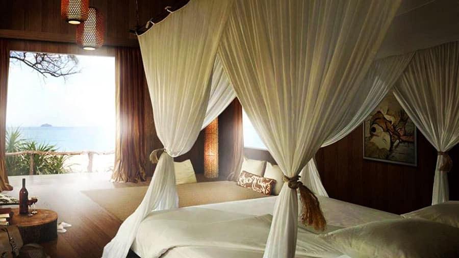 Phòng nghỉ tại Coto Life xây dưng hoàn toàn bằng gỗ tự nhiên