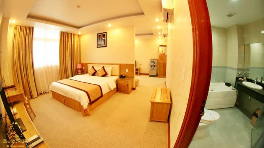 Phòng tại khách sạn hiện đại, thiết kế tinh tế