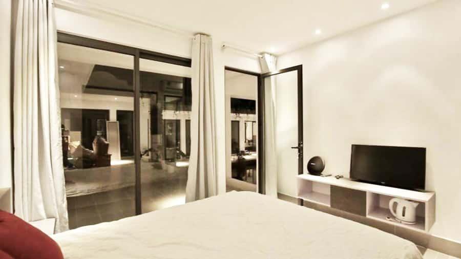 Phòng ngủ tại Coto Eco Lodge tiện nghi, sang trọng
