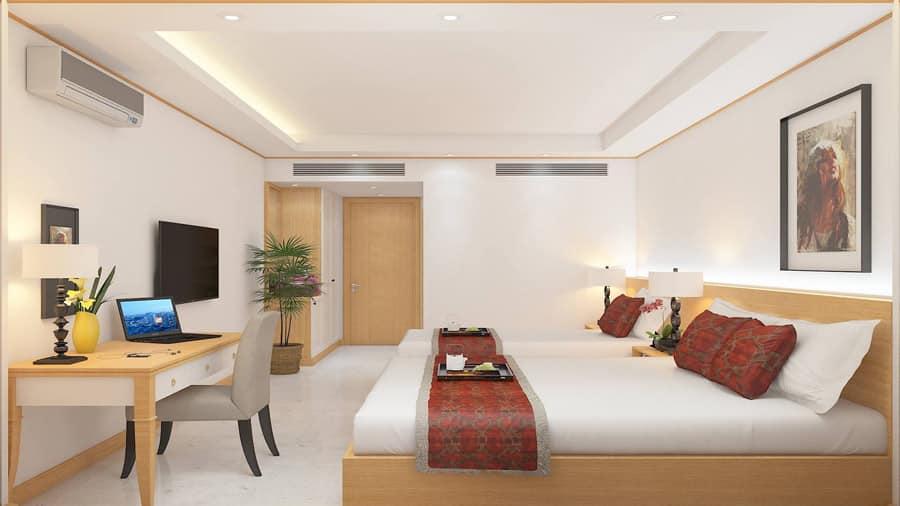 Phòng Deluxe Twin - khách sạn IVY Hải Tiến
