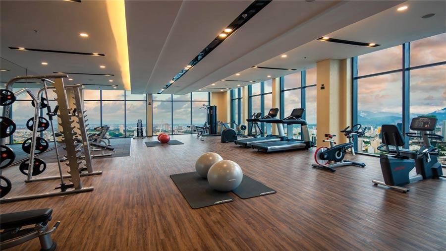 Phòng tập Gym nằm tại tầng 4A khách sạn