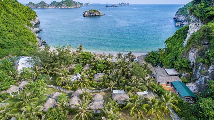 Bãi tắm Tùng Thu - Bãi tắm hoang sơ tuyệt đẹp tại đảo Cát Bà