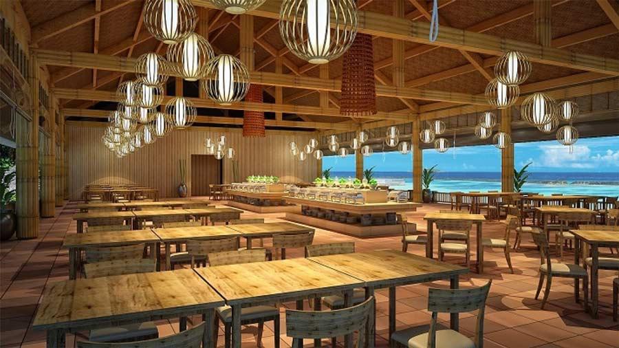 Nhà hàng Biển Xanh với không gian rộng rãi, view hướng biển thoáng mát