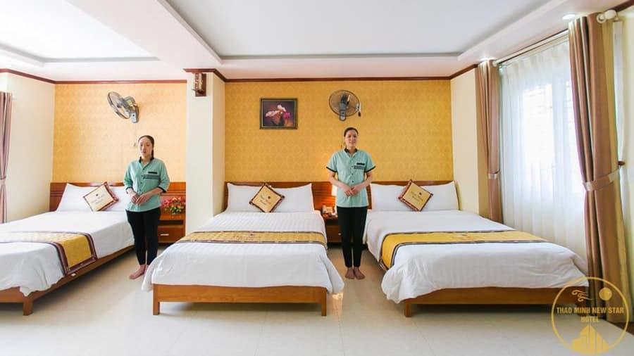 Phòng 3 giường rộng rãi, thoáng mát