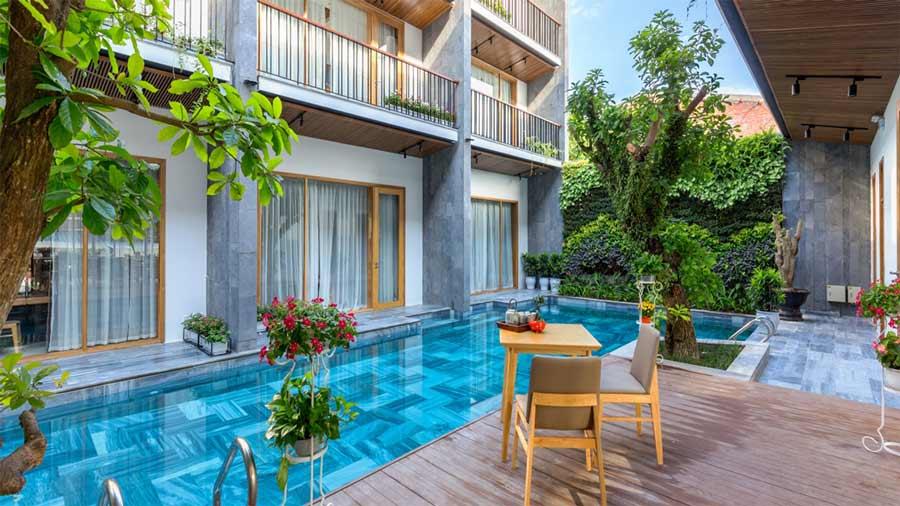 Tam House Villa Hotel có thiết kế nhẹ nhàng với những góc nhỏ xinh đẹp như một khu vườn cổ tích