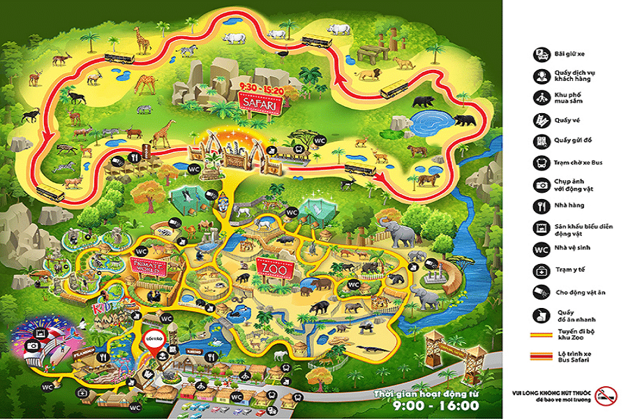 Bản đồ Vinpearl Safari