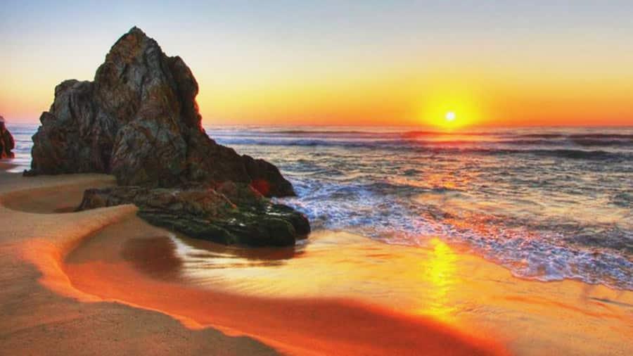 Cắm trại gần bãi biển, ngắm bình minh tuyệt đẹp