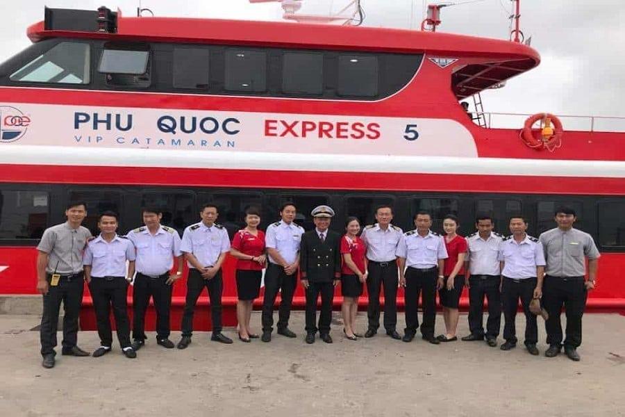 Tàu cao tốc Phú Quốc express tuyến Rạch Giá - Nam Du