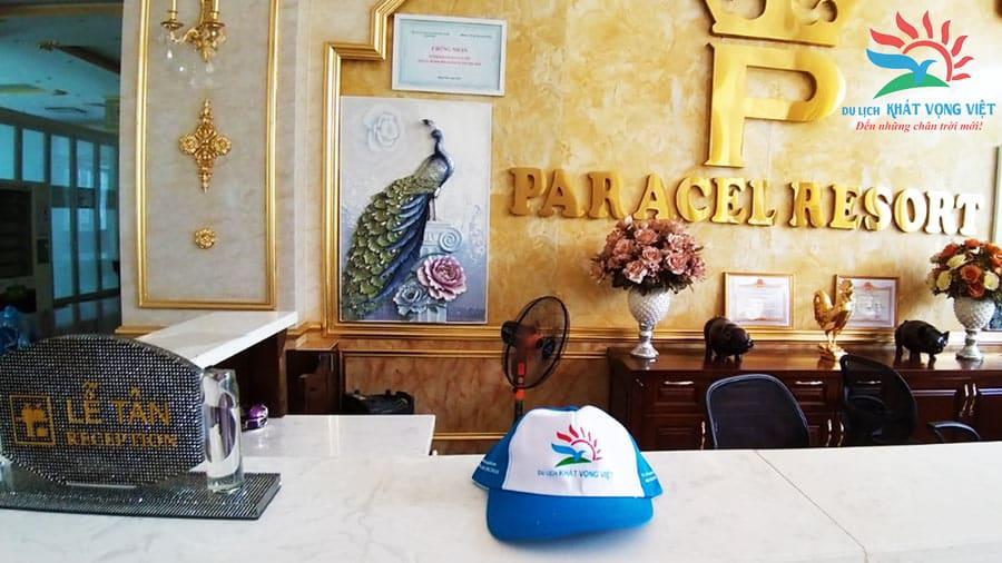 Đoàn ở tại Paracel Resort - Một trong những Khu nghỉ dưỡng tiện nghi, nổi tiếng nhất biển Hải Tiến