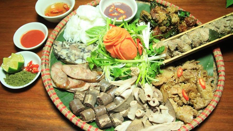 Những món ăn được chế biến từ lợn mán Tam Đảo
