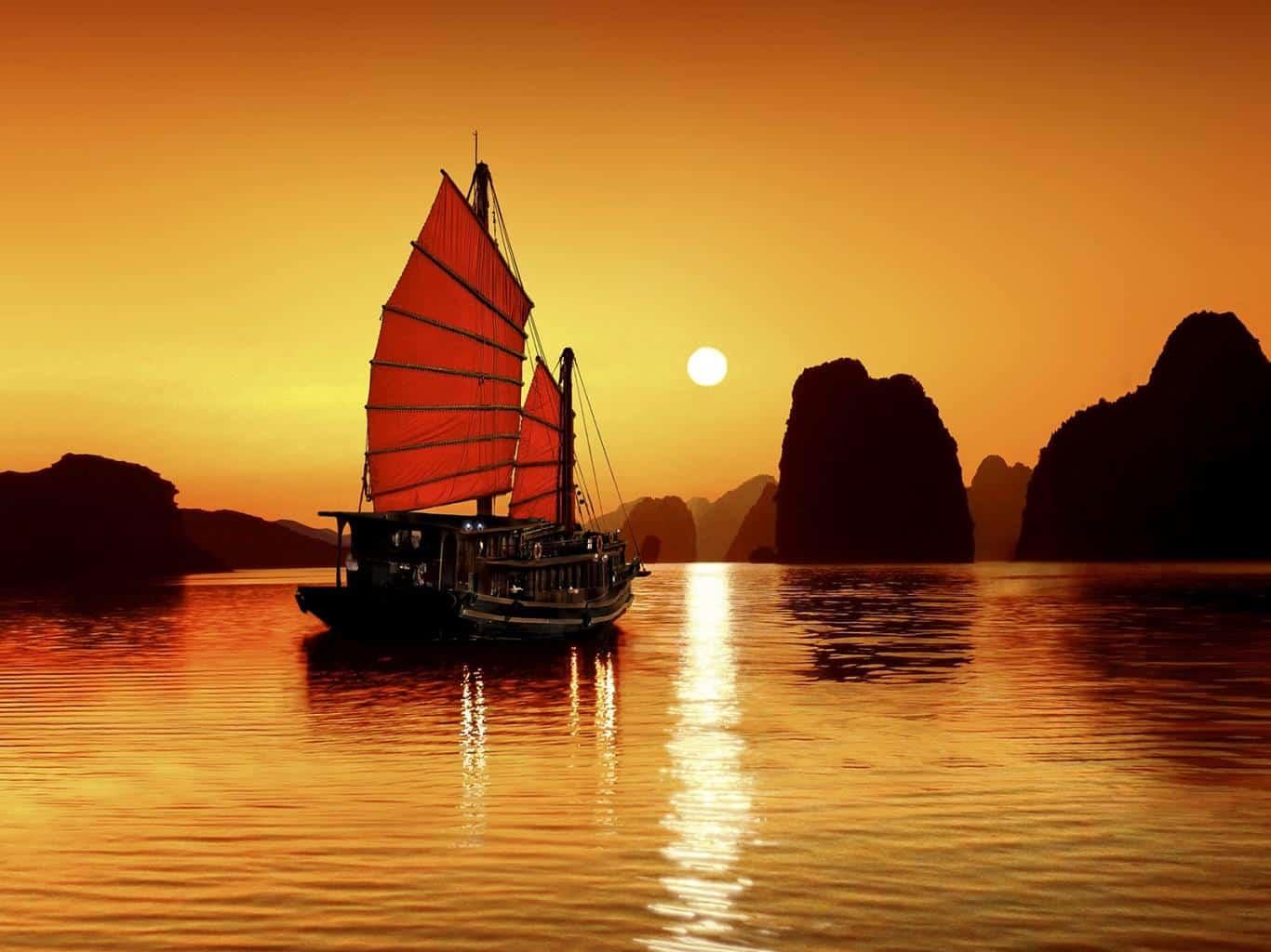Thuyền buồm Hạ Long