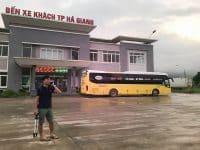 Điểm đến là bến xe khách Hà Giang