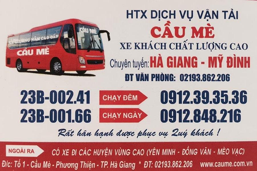 Lịch trình, số điện thoại liên hệ nhà xe Cầu MèLịch trình, số điện thoại liên hệ nhà xe Cầu Mè