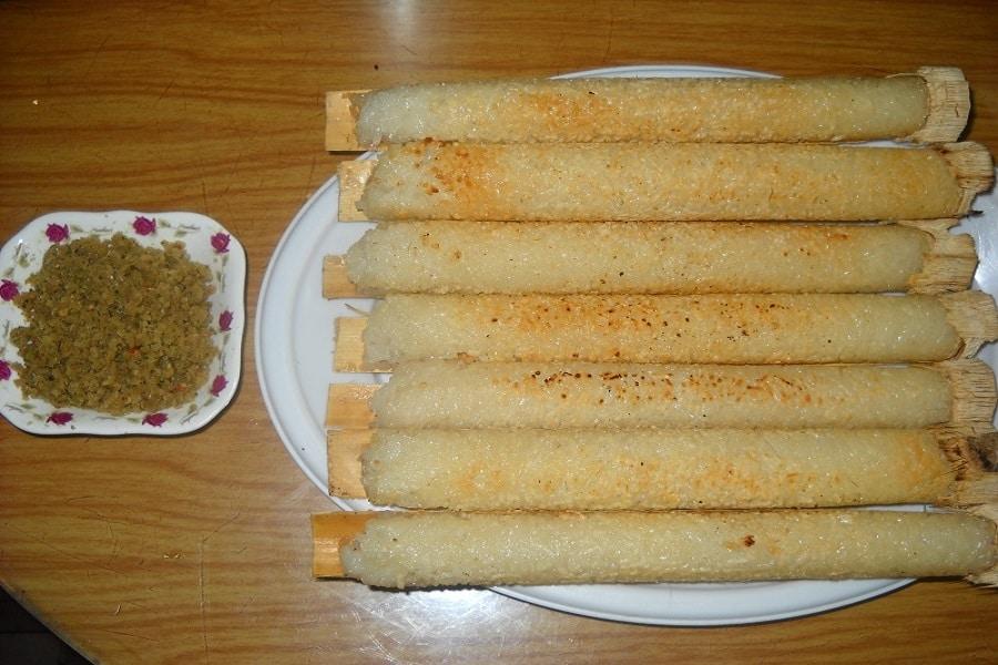 Đặc sản cơm lam nổi tiếng của Bắc Mê