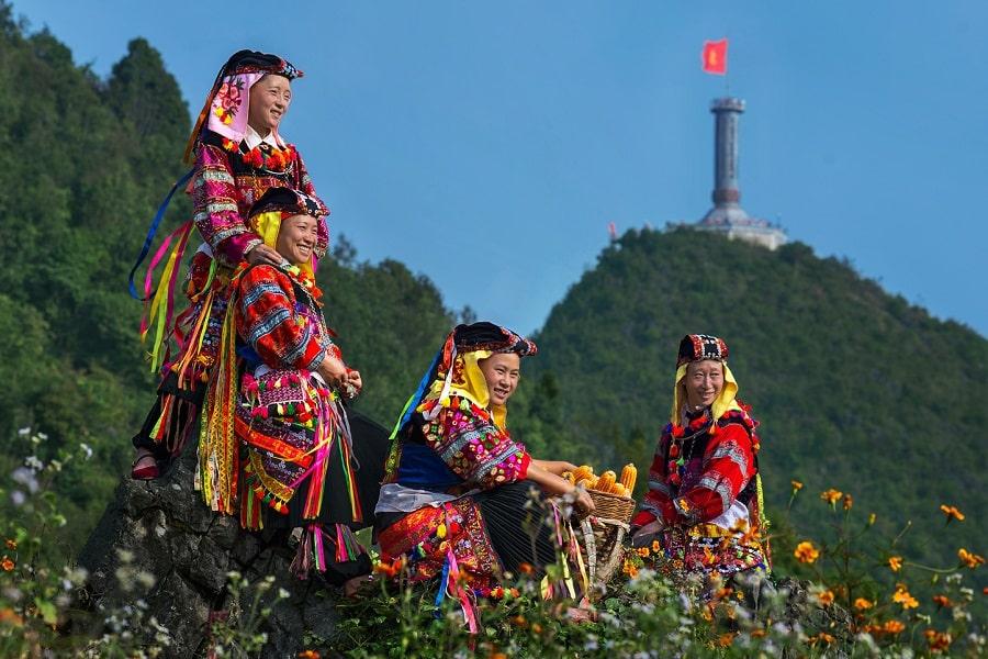Những người dân bản tại xã Lũng Cú Hà Giang