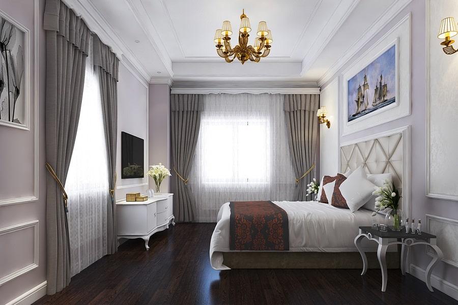 Không gian trong hạng phòng deluxe của khách sạn