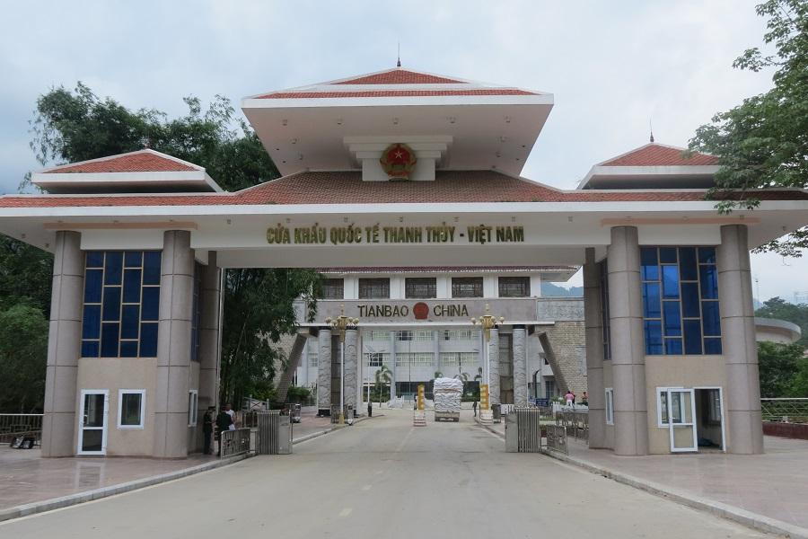 Cửa khẩu quốc tế Thanh Thủy - nơi đánh dấu biên giới Việt Nam - Trung Quốc