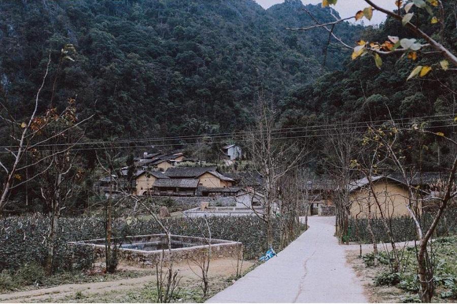 Đường dẫn vào thị trấn cổ Phó Bảng
