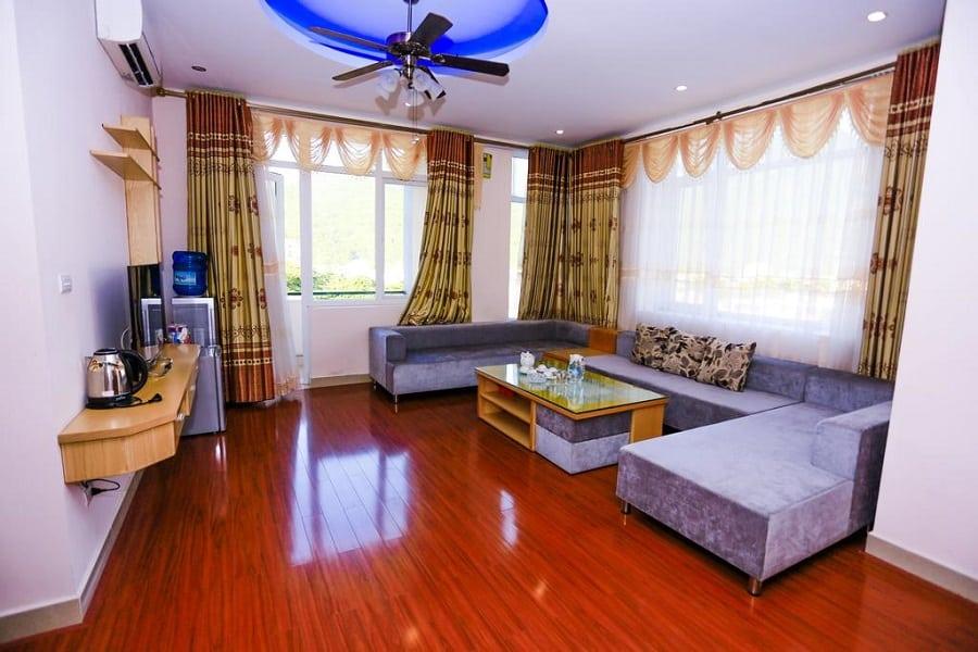 Không gian phòng khách trong hạng phòng Vip