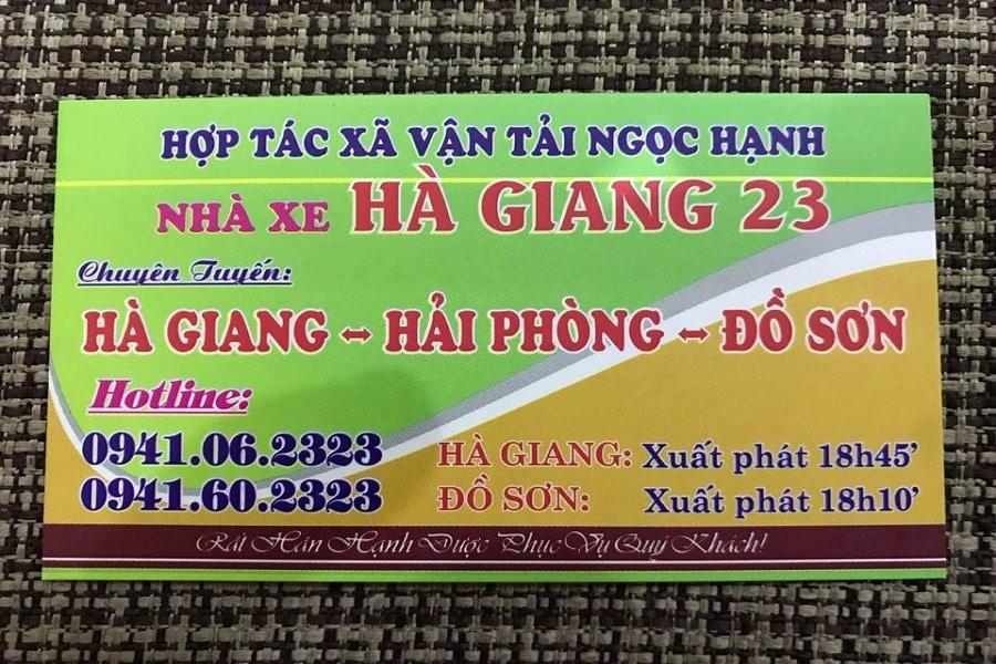 Nhà xe Hà Giang 23