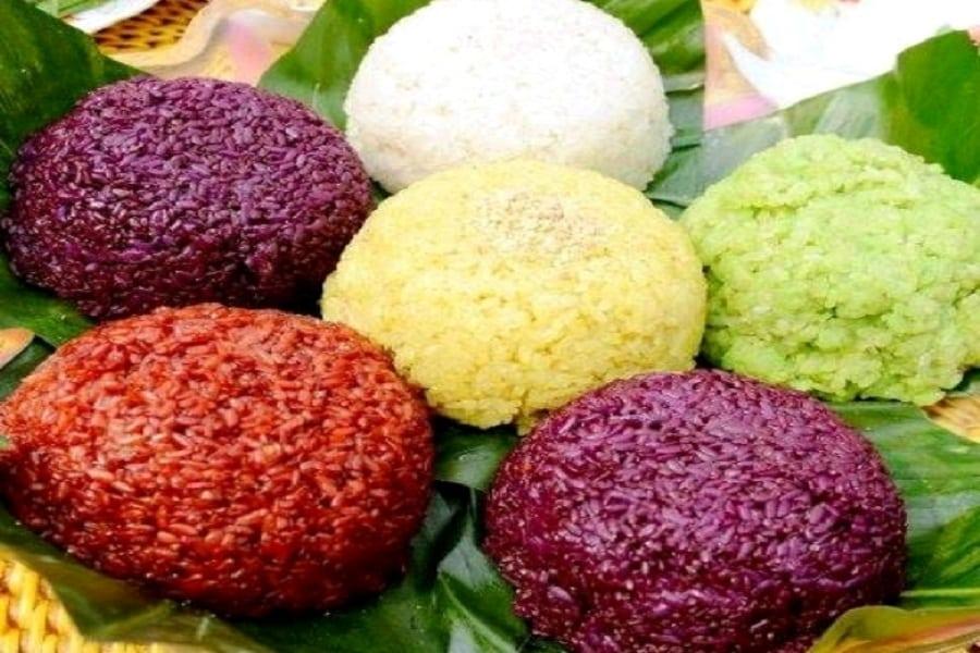Xôi ngũ sắc Hà Giang – ẩm thực mang đậm nét văn hóa vùng cao