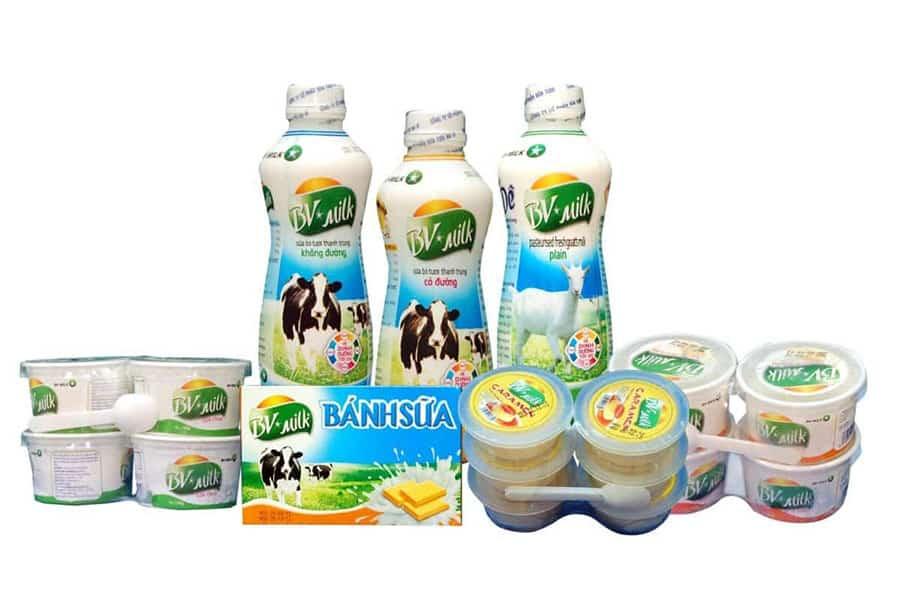 Các sản phẩm từ sữa Ba Vì