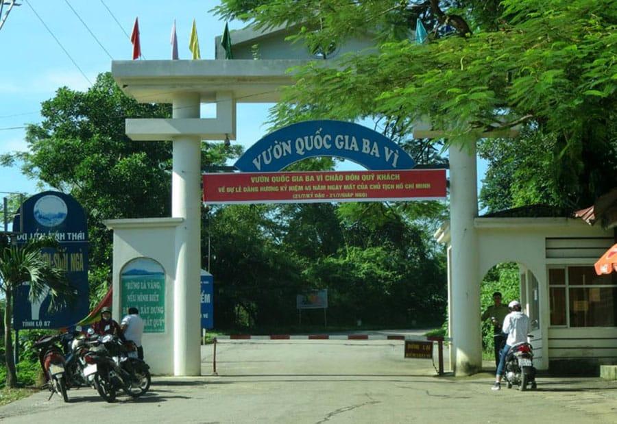 Cổng vào vườn quốc gia Ba Vì