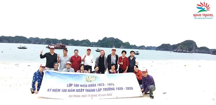 Đoàn Cựu học sinh lớp 10B du lịch Cát Bà