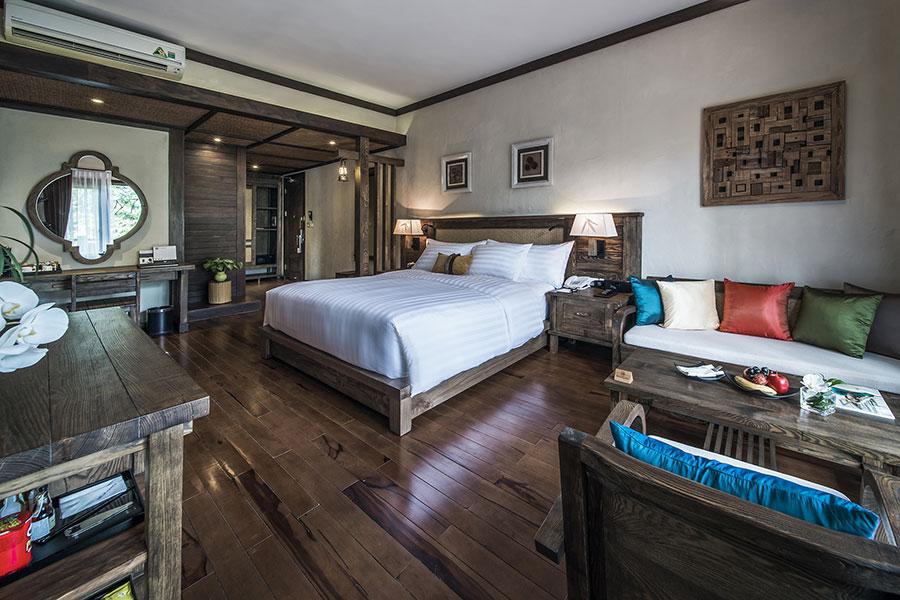 Các phòng tại khu nghỉ dưỡng