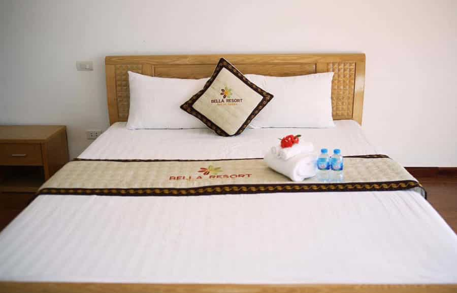 Phòng tại Bella resort Ba Vì trang bị đầy đủ tiện nghi