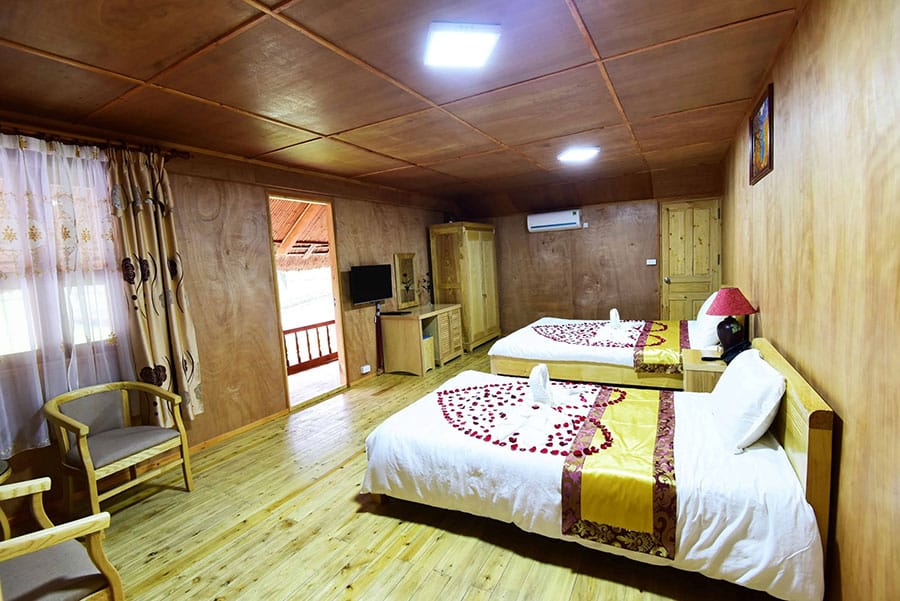 Các phòng tại Paragon resort đầy đủ tiện nghi
