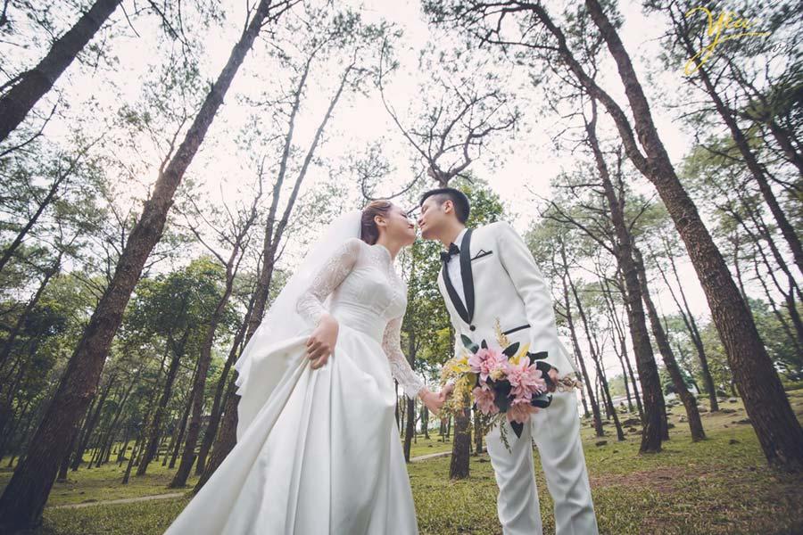 Đồng cỏ Ba Vì còn là địa điểm chụp ảnh cưới lung linh
