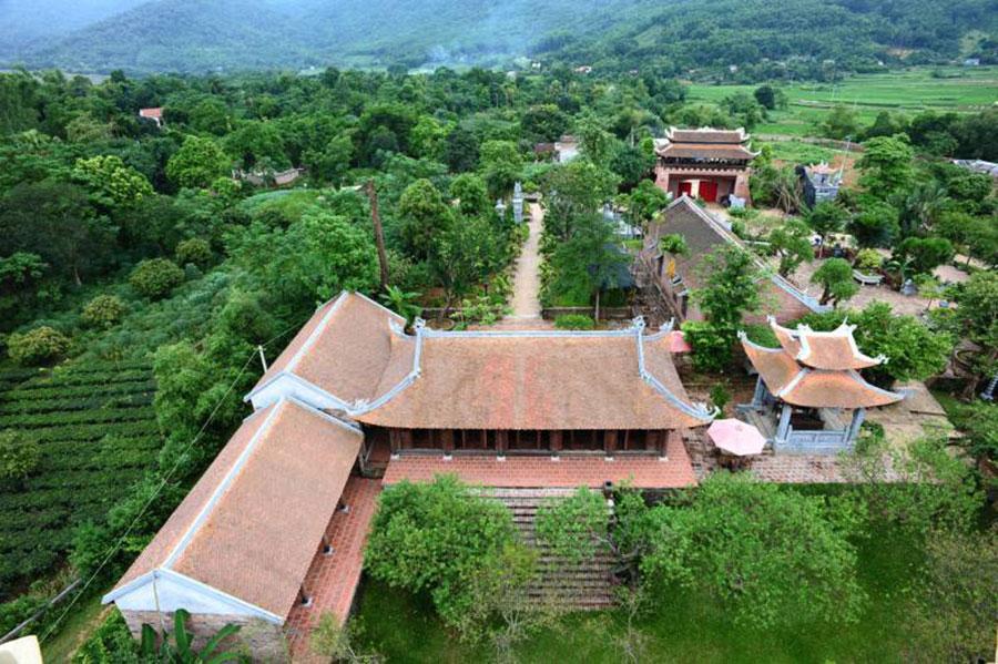 Toàn cảnh khu du lịch Long Việt Ba Vì nhìn từ trên cao