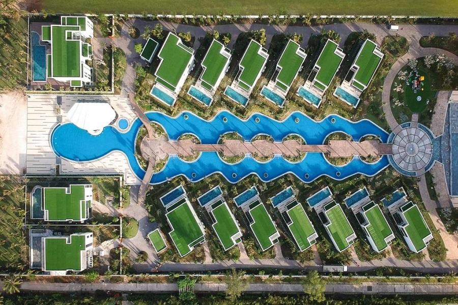 Bể bơi nhìn từ trên cao