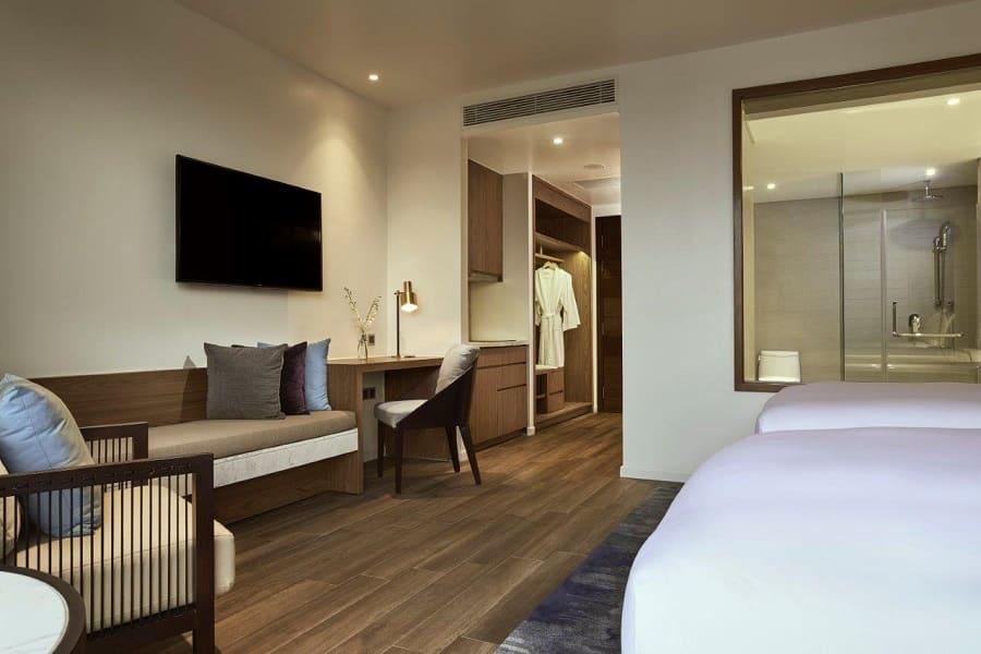 Căn hộ Suite hướng biển với hai giường đơn