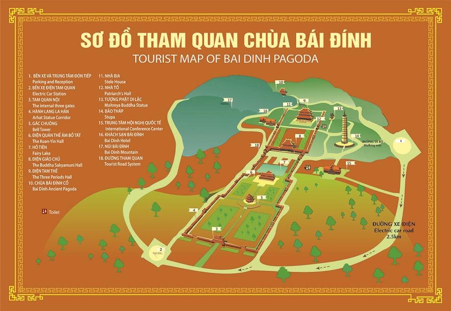 Bản đồ du lịch Bái ĐínhBản đồ du lịch Bái Đính