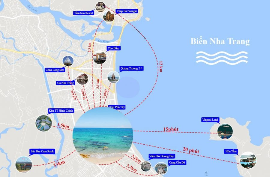 Bản đồ du lịch Nha Trang