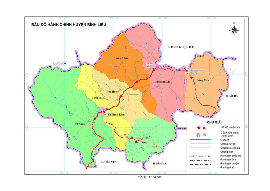 Cần kết hợp sử dụng bản đồ hành chính tại Bình Liêu để cung đường di chuyển thuận tiện
