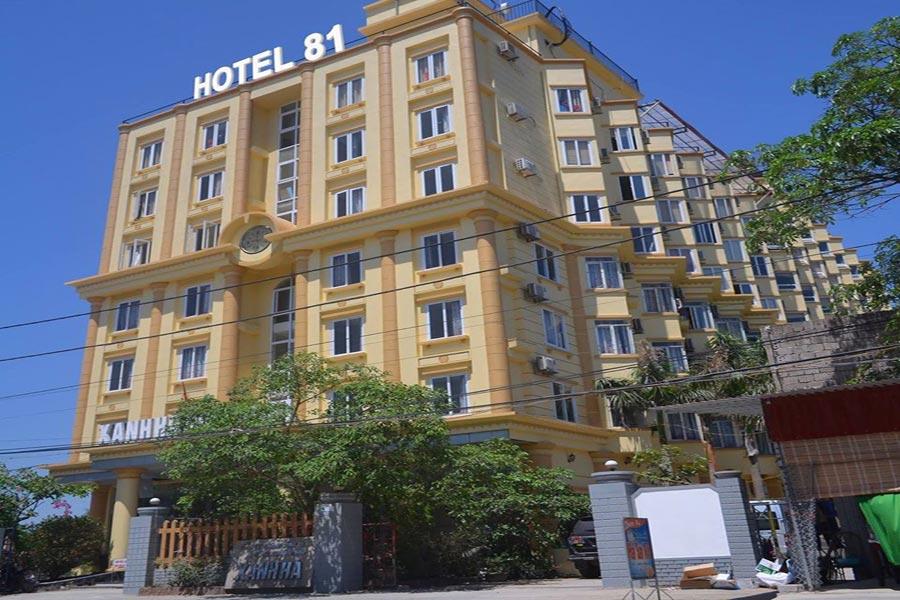 Kiến trúc mặt tiền của khách sạn Xanh Hà ABC
