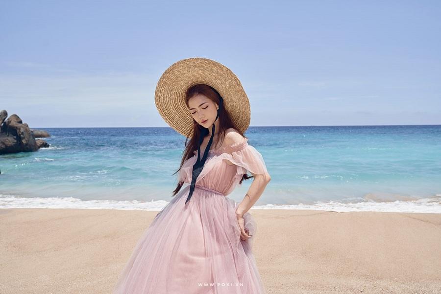 Váy maxi nhẹ nhàng thướt tha du lịch Đà Nẵng