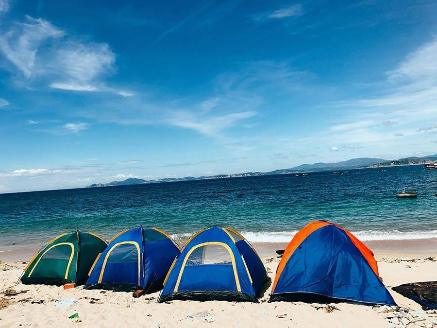Hình thức ngủ lều được nhiều du khách lựa chọn