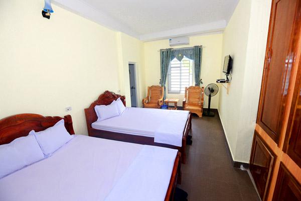 Phòng tại nhà khách huyện ủy Cô Tô trang bị đầy đủ tiện nghi