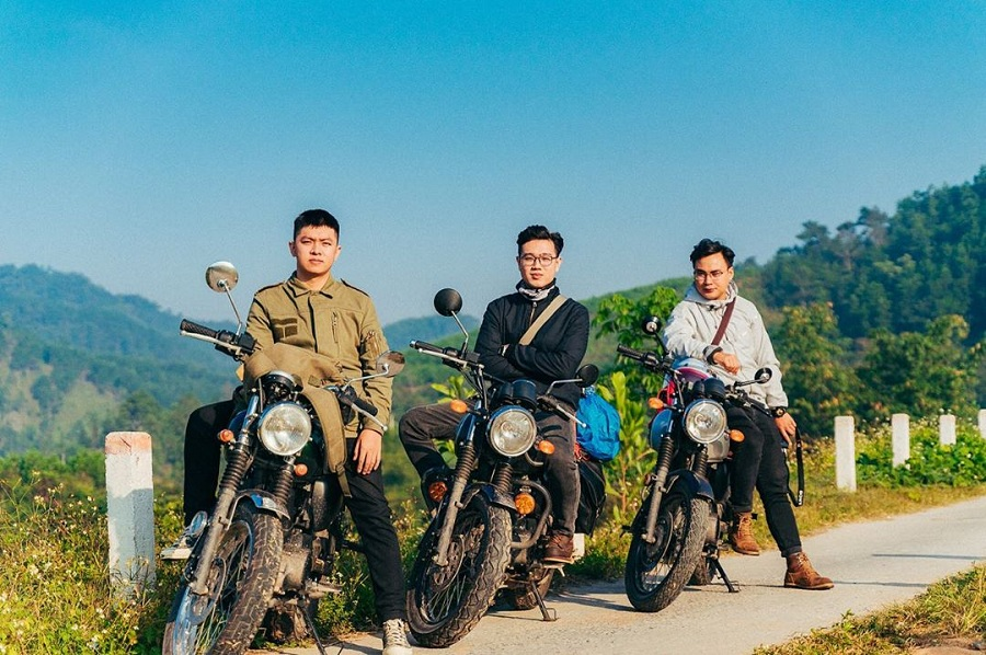 Đi xe máy đến Bình liêu