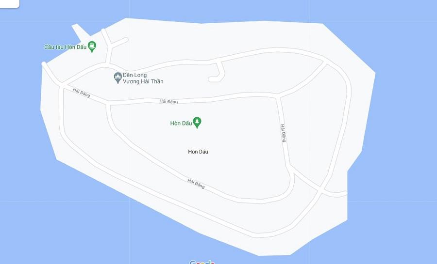 Đảo Hòn Dáu nằm ngoài khơi của bãi biển Đồ Sơn